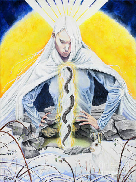 Goddess Painting - Brigid by Do'an Prajna - Antony Galbraith