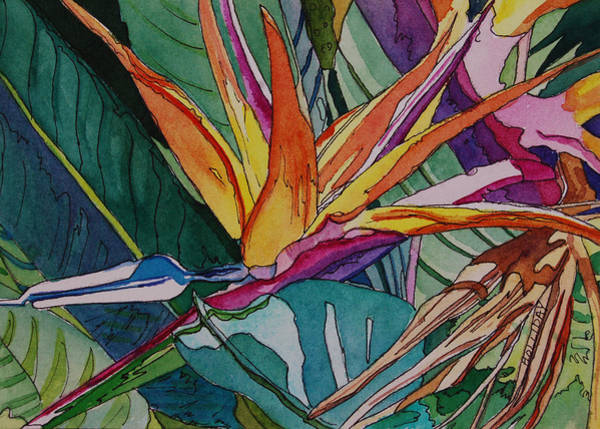 Painting - Brillant Bird Of Paradise by Terry Holliday