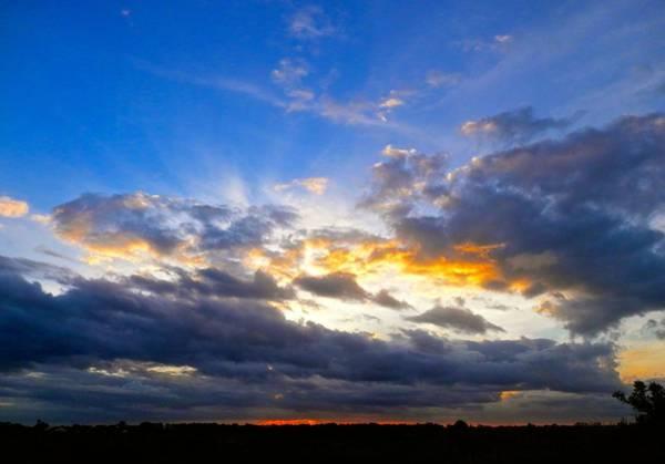 Disappearance Photograph - Brilliant Sunset by Joe Wyman