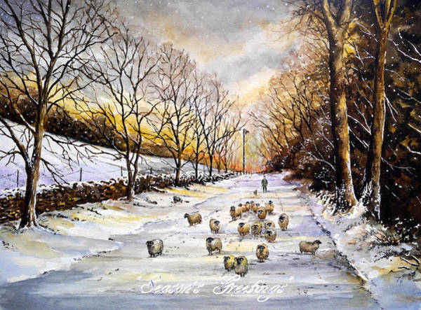 Wall Art - Painting - Bringing Home The Sheep by Andrew Read