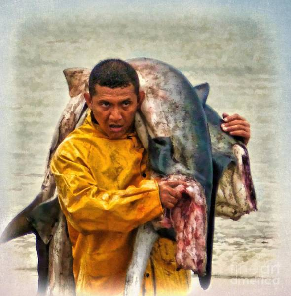 Photograph - Bringing In The Catch - Manta - Ecuador by Julia Springer