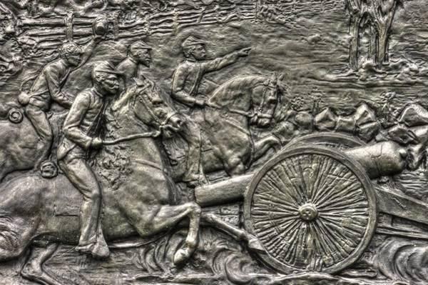 Artillery Brigade Photograph - Bringing Up The Battery Detail-a 6th New York Independent Battery Horse Artillery Gettysburg Autumn by Michael Mazaika
