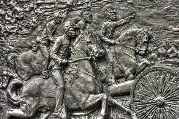 Artillery Brigade Photograph - Bringing Up The Battery Detail-d 6th New York Independent Battery Horse Artillery Gettysburg Autumn by Michael Mazaika