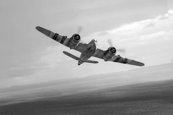 Photograph - Bristol Beaufighter Tfx Black And White Version by Gary Eason