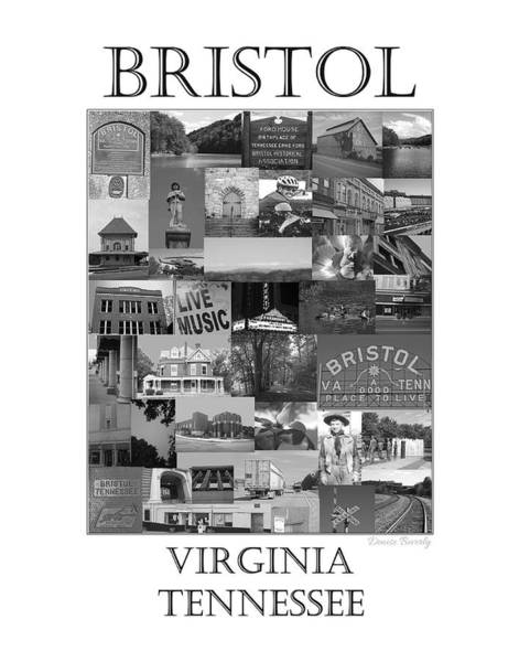 Photograph - Bristol Virginia Tennessee Collage 2 by Denise Beverly