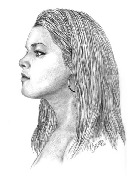 Drawing - Brit by Joe Olivares