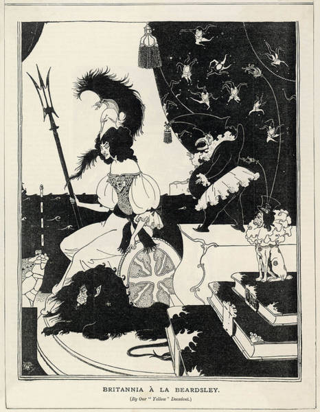 Beardsley Drawing - Britannia A La Beardsley by Mary Evans Picture Library