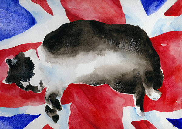 Fat Cat Painting - Britcat by Lydia Irving