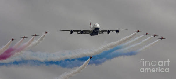 Flyby Photograph - British Airways A380 Fly Past by J Biggadike