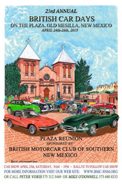 I Phone Case Mixed Media - British Car Days Poster 2015 by Jack Pumphrey