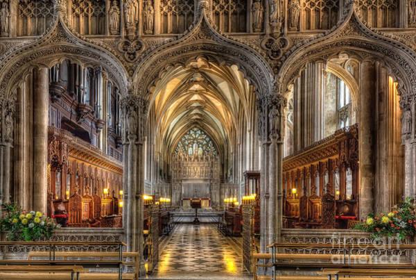 Gothic Arch Photograph - British Church by Adrian Evans