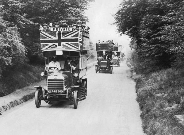 Epping Wall Art - Photograph - British Double Decker Buses by Underwood Archives