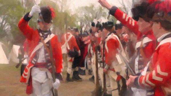 Wall Art - Painting - British Encampment by Colonial America