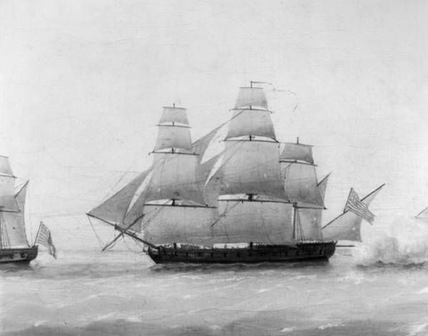 Wall Art - Painting - British Frigate 'boston by Granger