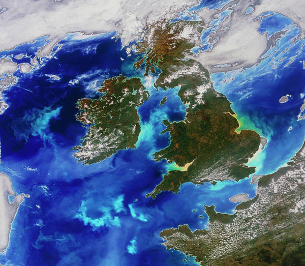 Channel Isles Photograph - British Isles by Digital Globe/science Photo Library