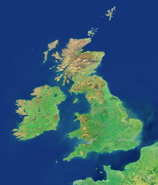 Channel Isles Photograph - British Isles by Planetary Visions Ltd/science Photo Library