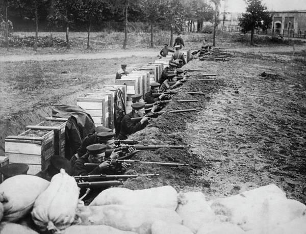 Photograph - British Marines Defend Antwerp by Underwood Archives