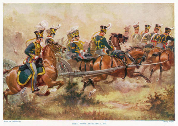 Royal Artillery Wall Art - Drawing - British Royal Horse Artillery by Mary Evans Picture Library