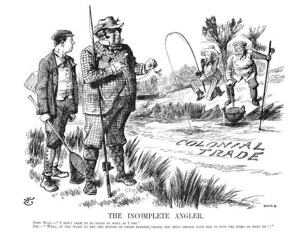 Political Cartoon Painting - British Trade Cartoon, 1897 by Granger