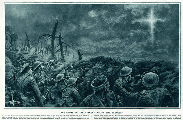 Paranormal Drawing - British Troops See The Cross Of Jesus by  Illustrated London News Ltd/Mar