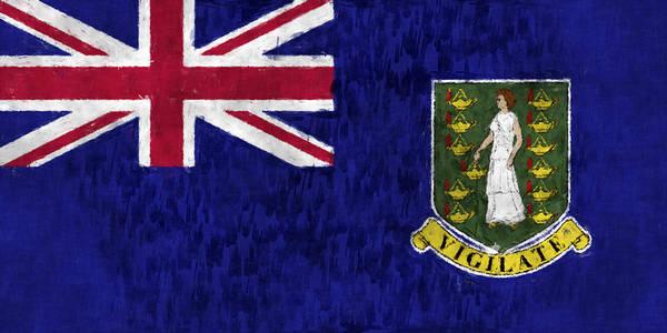 Bahamas Digital Art - British Virgin Islands Flag by World Art Prints And Designs