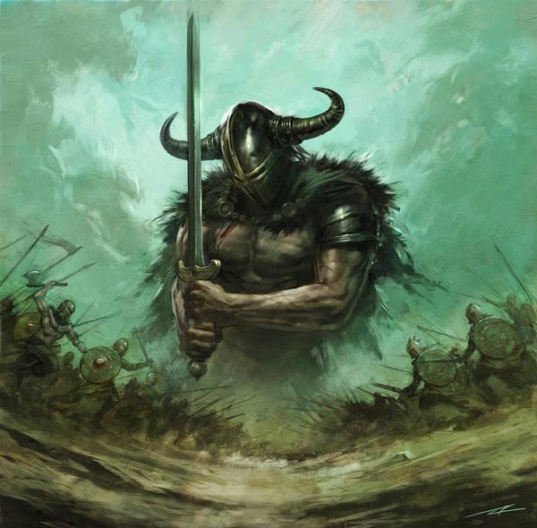 World Of Warcraft Wall Art - Painting - Broadsword by Alan Lathwell