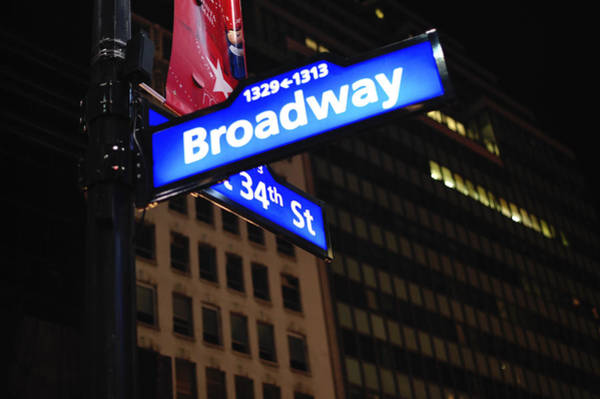 Photograph - Broadway At Night New York City by Terry DeLuco