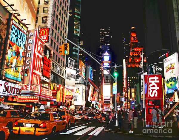 Photograph - Broadway Brights by Larry Oskin