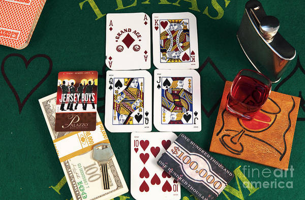 Photograph - Broadway Poker Hand by John Rizzuto