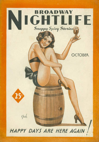 Nineteen-thirties Wall Art - Drawing - Broadway Nightlife 1933 1930s Usa by The Advertising Archives