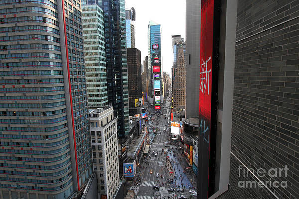 Photograph - Broadway Nyc From Above by Steven Spak