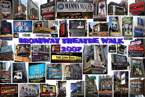Broadway Theatre Walk 2007 Collage Art Print