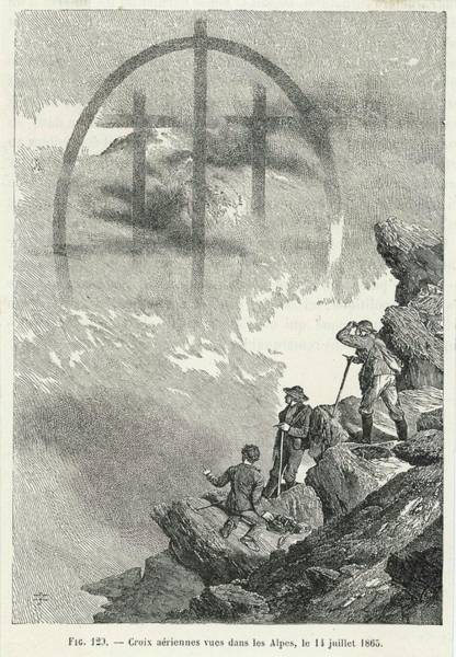 Wall Art - Drawing - Brocken-type Spectre In The  Form by Mary Evans Picture Library