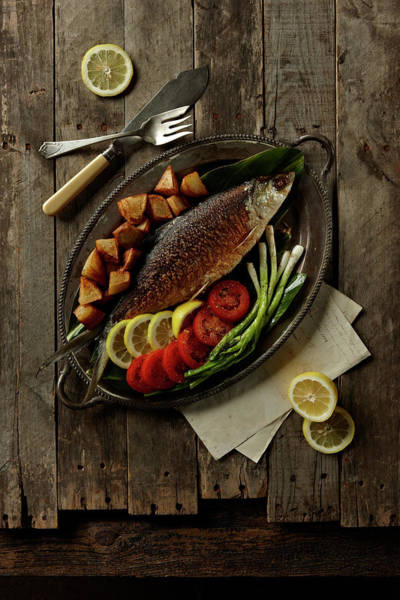 Wood Photograph - Broiled Fish by Lew Robertson