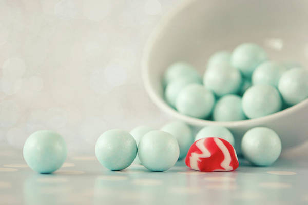 Break Up Photograph - Broke Into The Bowl Of Mint Balls by Itziar Aio
