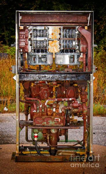 Photograph - Broken And Abandoned Fuel Pump by Les Palenik