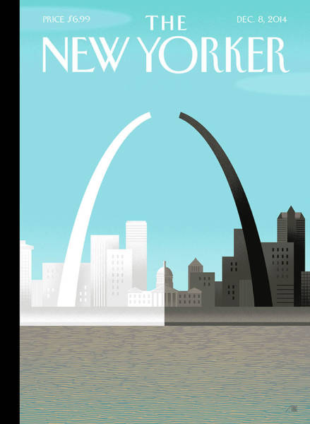 Race Painting - Broken Arch. A Scene From St. Louis by Bob Staake