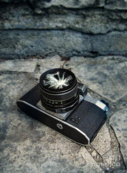 Manual Focus Wall Art - Photograph - Broken Camera Lens by Jill Battaglia