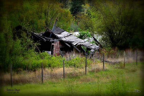 Photograph - Broken Down Homestead - Vaseux Lake by Guy Hoffman