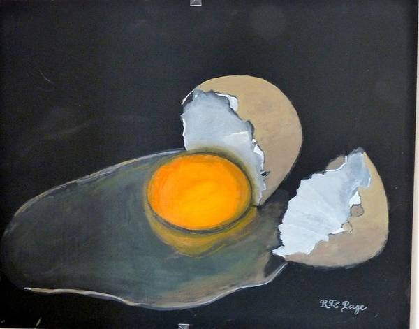 Painting - Broken Egg by Richard Le Page