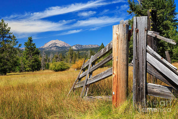 Photograph - Broken Fence And Mount Lassen by James Eddy