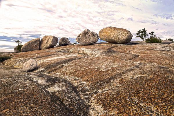 Bald Rock Dome Photograph - Broken Glacial Erratics by Frank Wilson