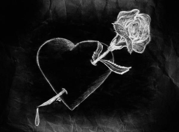 Drawing - Broken Hearted by Elaine Malott