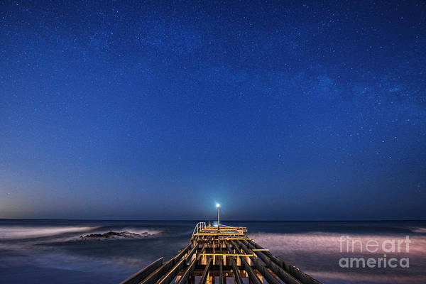 Ocean Grove Photograph - Broken Moon Light by Michael Ver Sprill