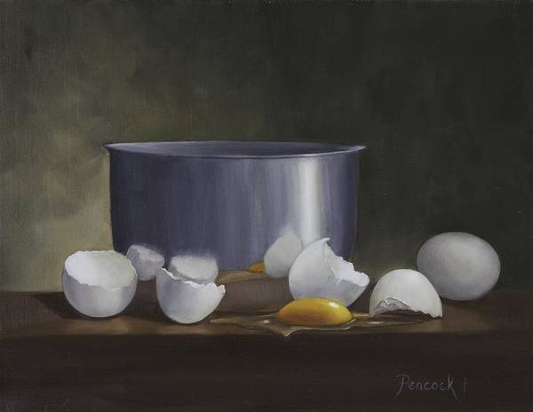 Broken Egg Painting - Broken by Paula Peacock