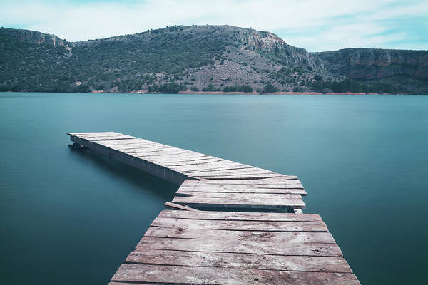 Damaged Photograph - Broken Pier On River Against Mountains by Javier Martín / Eyeem