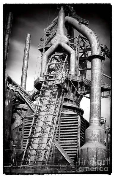 Photograph - Broken Promises At Bethlehem Steel by John Rizzuto