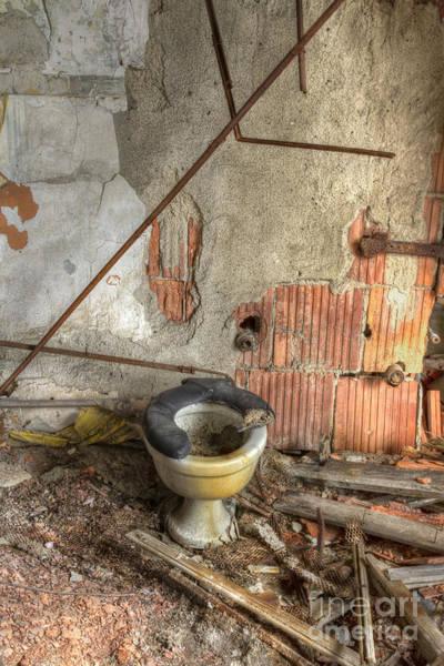 Toilet Photograph - Broken Seat by Margie Hurwich