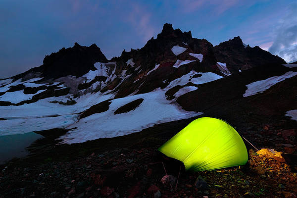 Photograph - Broken Top Camp by Andrew Kumler