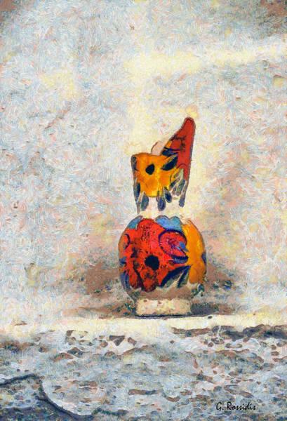 Amorgos Painting - Broken Vaze by George Rossidis